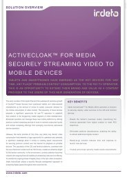 acTIVEcLOaK™ FOR MEDIa SEcURELY STREaMING ... - Irdeto