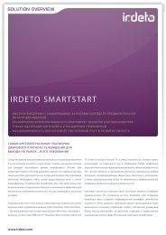 SmartStart with Middleware - Irdeto