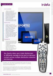 Sky Sports relies upon Irdeto Multiscreen to efficiently manage its ...