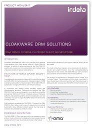 cloaKware drm solutions - Irdeto