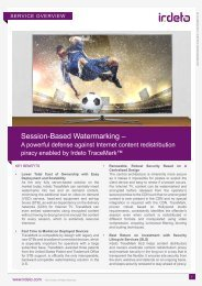Sessions-Based Watermarking –A powerful defense against ... - Irdeto
