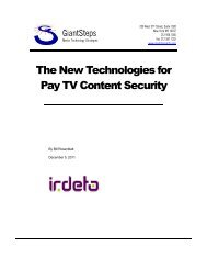 The New Technologies for Pay TV Content Security - Irdeto
