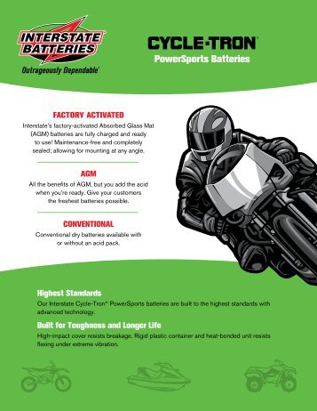 PowerSports Batteries Factory activated - Interstate Dealers