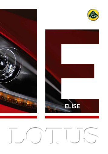 elise - Lotus Drivers Guide