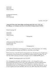 Antrag auf vorläufigen Rechtsschutz - Beispielklagen