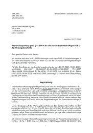 Überprüfungsantrag - Beispielklagen