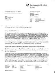 ß Bundesagentur für Arbeit - Beispielklagen