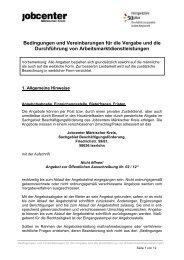 Bedingungen und Vereinbarungen für die Vergabe ... - Beispielklagen