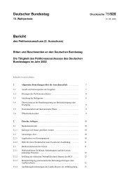 Deutscher Bundestag - Beispielklagen