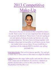 2011 Competitive Make-Up - Dancer's Edge Studio