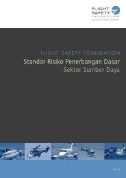 Standar Risiko Penerbangan Dasar Sektor Sumber Daya