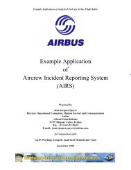 Example Application of Aircrew Incident Reporting System (AIRS)