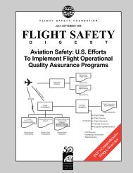 FSF's Comprehensive FOQA Overview: Aviation Safety