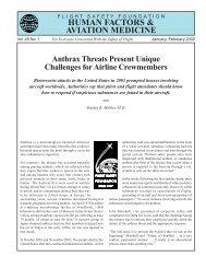 Human Factors & Aviation Medicine - Flight Safety Foundation