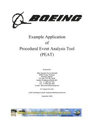 Example Application of Procedural Event Analysis Tool (PEAT)