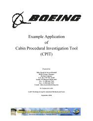Example Application of Cabin Procedural Investigation Tool (CPIT)