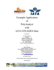 Example Application of PolyAnalyst with IATA STEADES Data