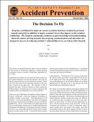 The Decision To Fly - Flight Safety Foundation
