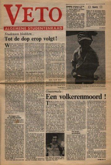 Een volkerenmoord ! - archief van Veto