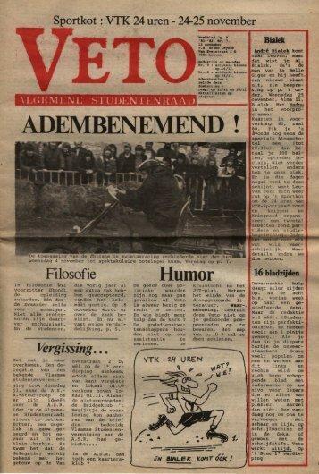 ADEMBENEMEND - archief van Veto