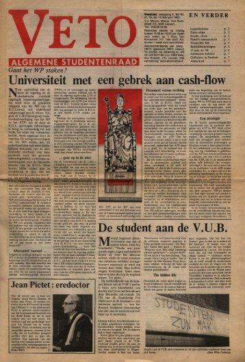 Universiteit met een gebrek aan cash-flow - archief van Veto