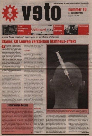 Stages KU Leuven versterken Manheus-eflekt rl0 - archief van Veto