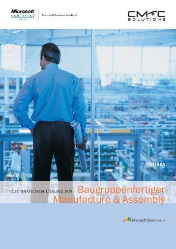 METAXA Dynamics AX Branchenlösung - CMC Solutions