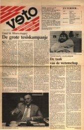 De grote tesiskampanje - archief van Veto