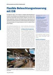 Flexible Beleuchtungssteuerung mit EIB