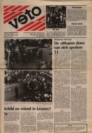 Schild'en vriend in Leuven ~ De uitlopers doen ... - archief van Veto
