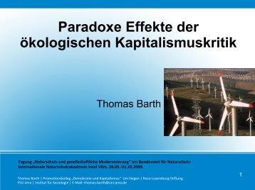 Paradoxe Effekte der ökologischen Kapitalismuskritik