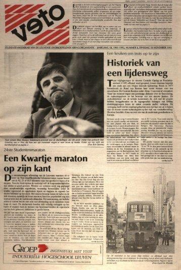 Een Kwartje maraton op zijn kant Historiek van ... - archief van Veto