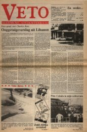 Ooggetuigeverslag uit Libanon - archief van Veto