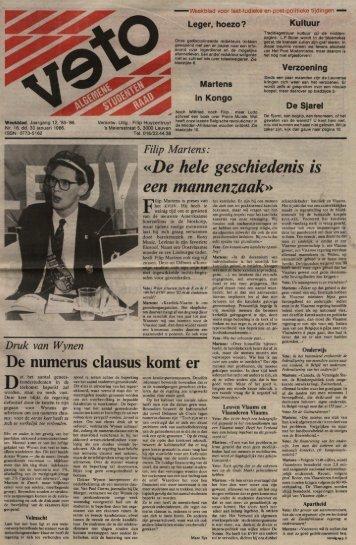 «De hele geschiedenis is een mannenzaak» - archief van Veto