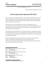 Nocom signs general agreement with Utfors - IAR Systems