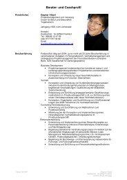 Berater- und Coachprofil