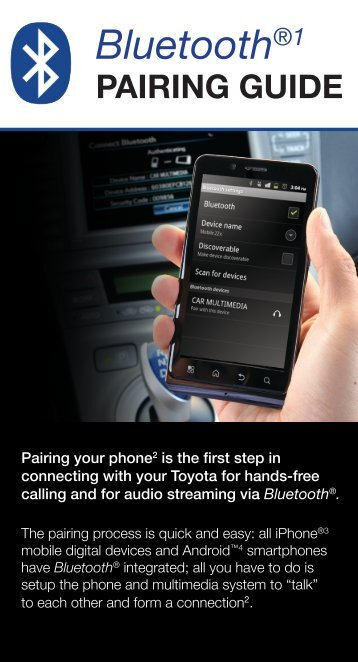 to download the Bluetooth Pairing Guide