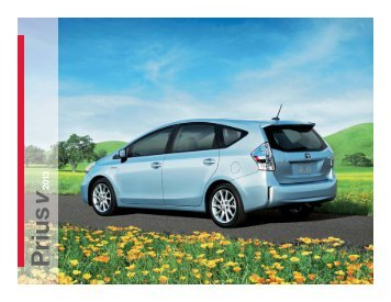 2013 Toyota Prius v complete brochure