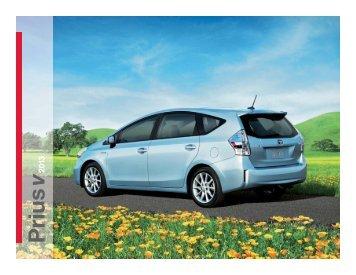 2013 Toyota Prius v complete brochure