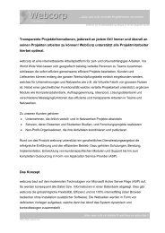 Webcorp White Paper - Amrein Engineering