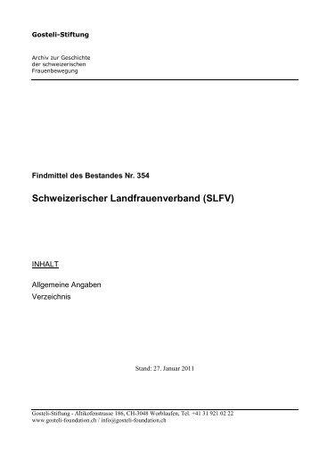 Findmittel - Archiv zur Geschichte der schweizerischen ...