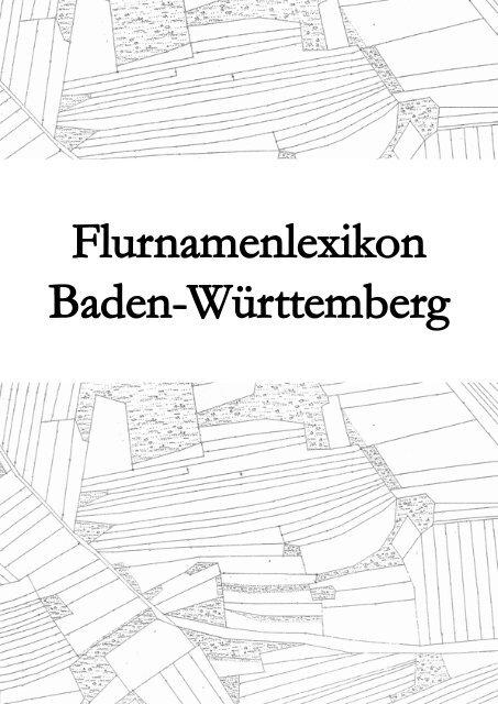 Flurnamenlexikon Baden-Württemberg - Hypotheses