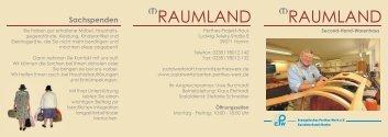 Raumland-Flyer - Evangelisches Perthes-Werk eV