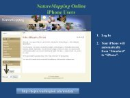 Online Data Entry for iPhone - Nature Mapping