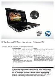 PSG Consumer 3C09 HP Notebook Datasheet - Action