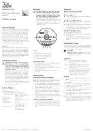 DALI Power-Drehgeber 40080 - Feller Clixx