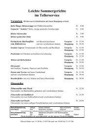 Leichte Sommergerichte im Tellerservice Vorspeisen - Hotel Delphin
