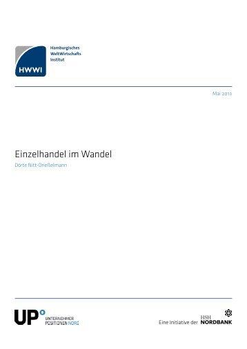 Studie: Einzelhandel im Wandel - HWWI