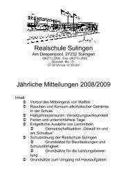 Schulordnung der Realschule Sulingen - nline