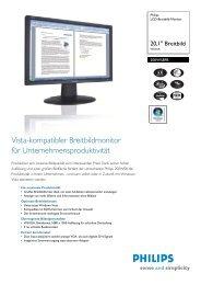 200WS8FB/00 Philips LCD-Breitbild-Monitor - Icecat.biz